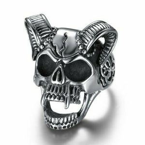 Other - Skull with horns Gothic Punk Rock Evil Ring Goth